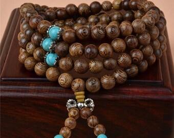 108 Bead Mala Bracelet or Necklace