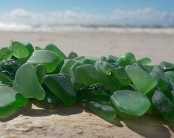 "250 pcs Kelly green TINY Genuine Sea Glass Bulk - 0,15-0,4"" -Craft quality- Mosaic-Glass Home Decor-Wedding decor#58B#"
