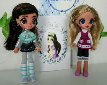 2 X Bratz Kidz OOAK doll