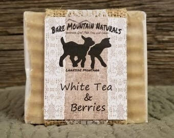 White Tea & Berries fragrance All Natural Goat Milk Soap