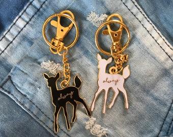 Doe Always Harry Potter Patronus Enamel Bag Charm Keychain