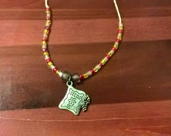 Seed Packet Gardening Pendent