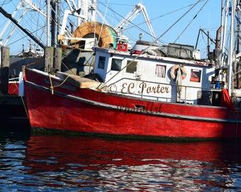 Red fishing dragger, Galilee, RI