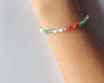 Handmade Woven Friendship Bracelet Thick Spiral