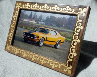 Photo Frame Vintage Style Walnut Wood Buy Now Birthday Valentine Day Gifts For Men Women Handmade Picture Unique Design Love
