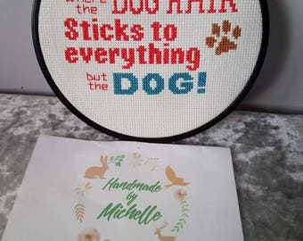 Cross stitch quote