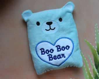 rice Heating pad, booboo bear, heat pack,cold pad, children get well gift,comfort heat therapy, Christmas stocking stuffer for kids