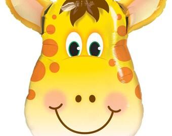 """Giraffe Balloon 29""""   Animal Balloons   Animal Party   1st Birthday   Jungle Party   Children's Party Balloons   Safari Balloons"""