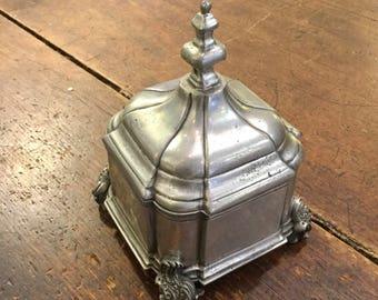 MMA Pewter Box, Virginia Metal Crafters, Ca: 1960s.