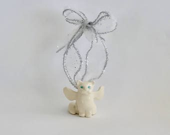 Handmade Cat Angel Christmas Ornament