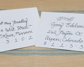Hand-Written Envelope Addressing, Calligraphy, Cursive, Wedding Invitations, Thank You Notes, Announcements