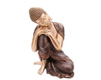 Thai Buddha, Florencia, gold and Brown, hand made, hand painted, big Buddha,.