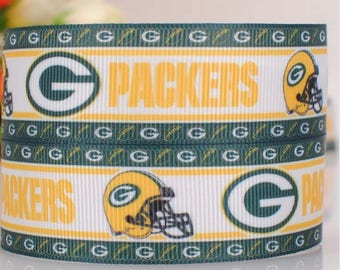 "Green Bay Packers Grosgrain 7/8"" Printed Ribbon"