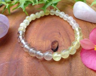 Multi gemstones bracelet/ Healing stones bracelet/ Yoga bracelet/ Spiritual jewelry/ Boho bracelet/ Amethyst Rose quartz Prehnite Citrine