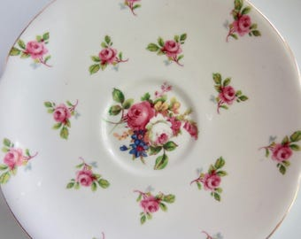 """Royal Standard Orphan Bone China Saucer """"Devon"""" Pattern Replacement Saucer Only No Teacup"""