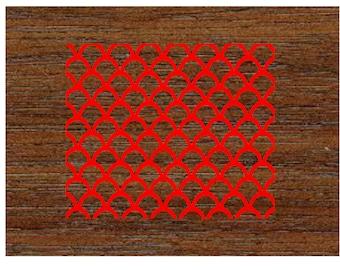 Scallop/ Fish Scale Pattern Stencil