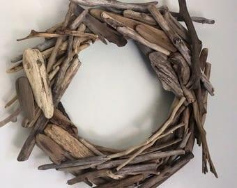 "Driftwood Shoreline 12"" Wreath"