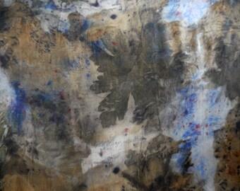 Blue Scarf - Long Silk Scarf- Silk Wrap - Eco-Dyed - Unisex scarf