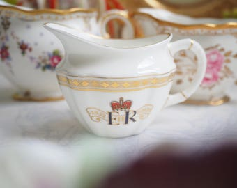 Vintage Royal Crown Derby creamer for Diamond Jubilee of HM Queen Elizabeth II