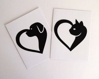 Pet Sympathy - Dog Sympathy - Death of Pet - With Sympathy Card - Loss of Cat - Thinking of You Card - Cat Silhouette - Cat Birthday Card