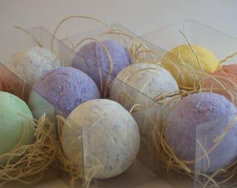 3 Bath Bombs Gift Set/ Fresh Fizzy 3 Bath Bombs/Bombes de bain effervescentes/Wedding Favours/Faveurs de mariage/Bridesmaid  Gift