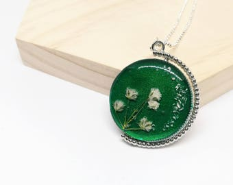 Two Sided Necklace - Green