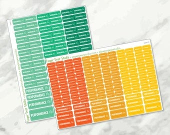 Rehearsal / Performance Sticker Set for Passion Planner