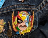 "Stan ""The Man"" Lee Thor Ragnarok Spiderman Homecoming Christmas Gifts Stocking Stuffers soft enamel pin punk enamel pin avengers comic books"