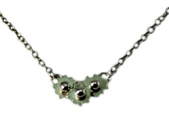 Silver Forget me not flower necklace