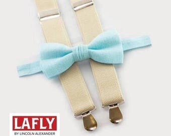 LAFLY BowTie and Suspender Set