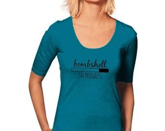 Bombshell T-Shirt - Workout T-Shirt - New Years Resolution - Women's T-Shirt - Womens Graphic Tee - Gym Tee - Sporty Tee