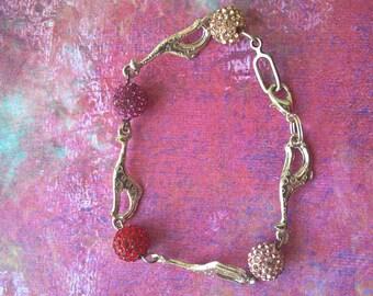 Giraffe charm bracelet with shamballa beads