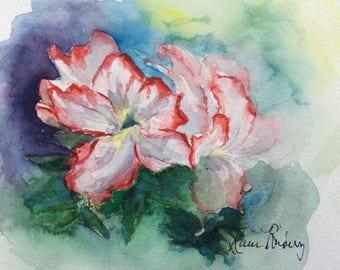 Coral Edged Azalea (Original watercolor study)
