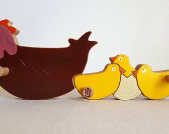 Coat rack mother hen with chicks - Mastro Deco