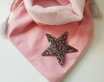 Fabric lined fleece scarf