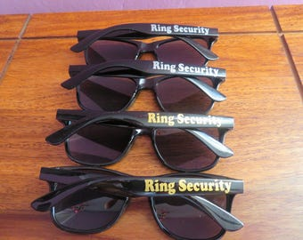 Ring Security sunglasses, Wedding Ring Bearer Sunglasses