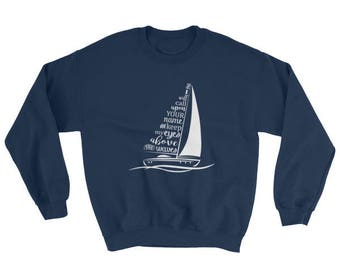 Hillson United Oceans Deep song lyrics on Heavy Blend Crew Neck Sweatshirt