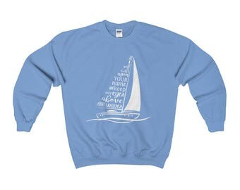 Oceans Deep Lyrics From Hillsong United On Heavy Blend Adult Crewneck Sweatshirt