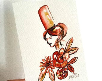 "Carte ""Demoiselle"""