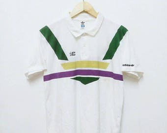 Hot Sale!!! Rare Vintage 90s ADIDAS ATP TOUR Polo Shirt Hip Hop Skate Swag Medium Size