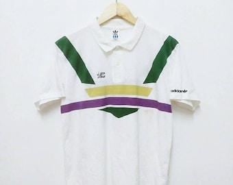 Hot Sale!!! Rare Vintage 90s ADIDAS ATP TOUR Polo Shirt Hip Hop Skate Swag Medium Size