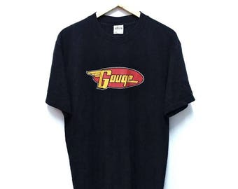 Hot Sale!!! Rare Vintage 90s GOUGE Skateboard Big Logo T-Shirt Hip Hop Skate Surf Swag Large Size