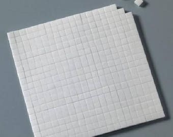 Mini Square 2mm double-sided foam stickers