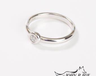 Chubbie Single Diamond Ring 0.15ct. John Fox