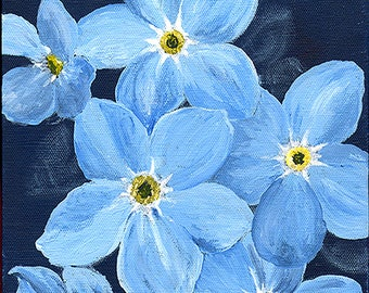 FORGET-ME-NOT - flower painting