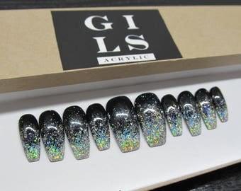 Glitter Gradient  Press On Nails