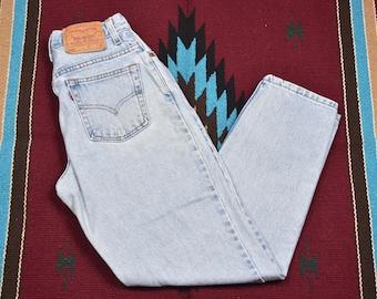 Vintage Levis 550 High Waisted Denim Blue Jeans