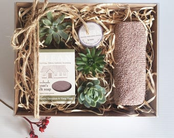 Spa Gift Set | With Succulents