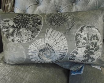 Voyage Decoration Cushion - Fossillium Velvet covered c170084 - From the natural history collection 60cm x 35cm