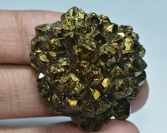 Titanium Agate Druzy....Freeform Druzy...40x37x15 mm...99 Cts...A#8468
